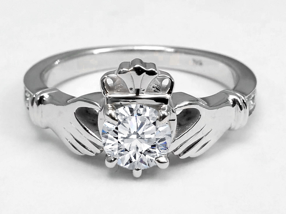 diamond claddagh wedding ring sets claddagh engagement rings from mdc diamonds nyc 3512