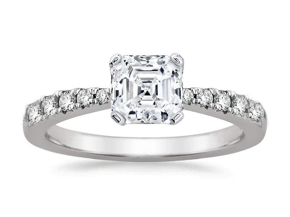 Freccia Petite Asscher Diamond Engagement Ring