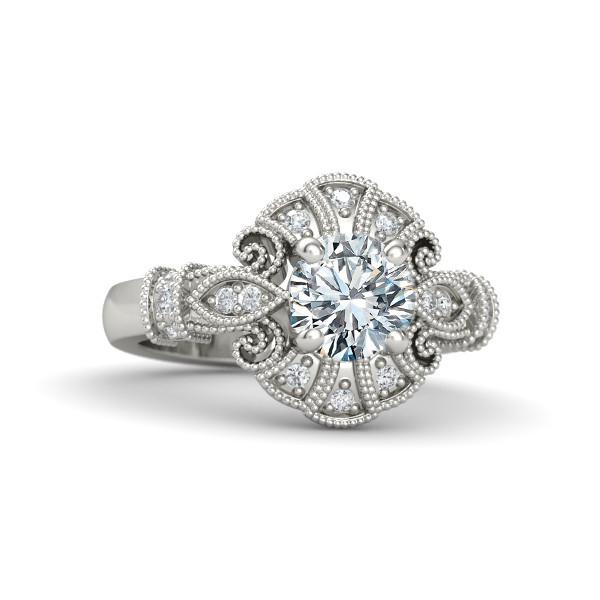 Engagement Ring Filigree Diamond Engagement Ring ES1383