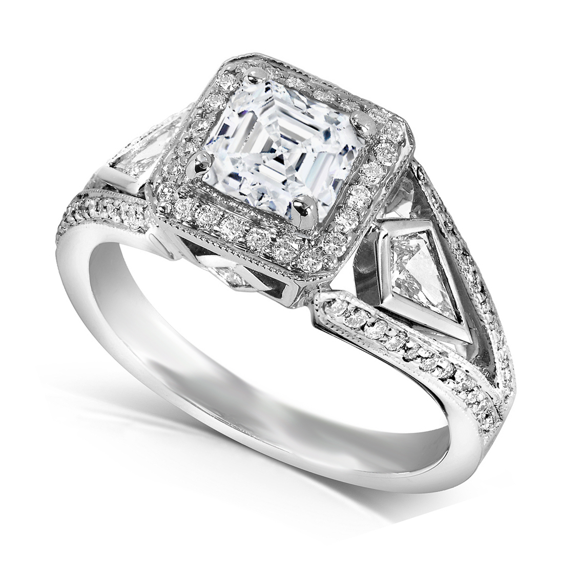 asscher engagement rings from mdc diamonds nyc. Black Bedroom Furniture Sets. Home Design Ideas