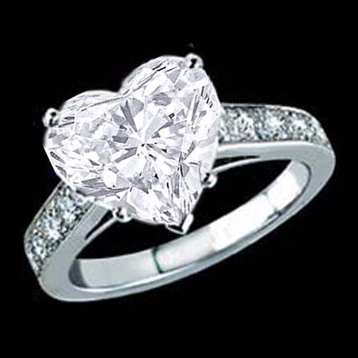 engagement ring heart shape diamond cathedral engagement With diamond heart wedding ring
