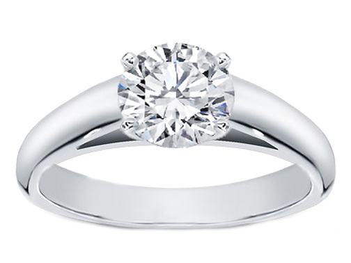 Cathedral Solitaire Diamond Engagement Ring