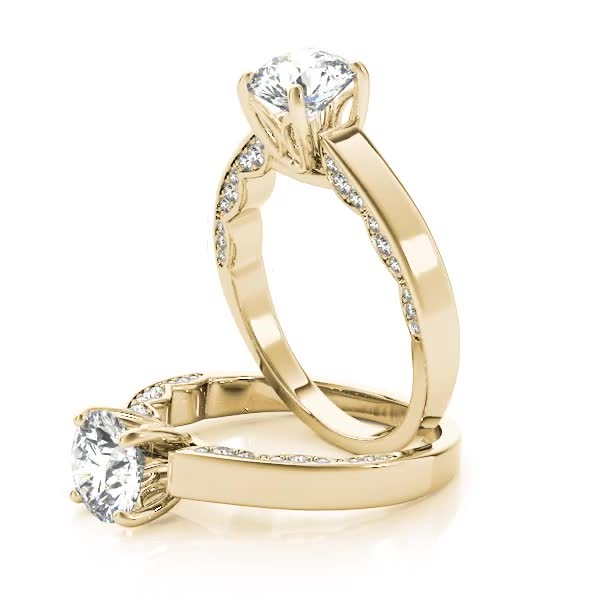 Modern Solitaire Engagement Ring Yellow Gold