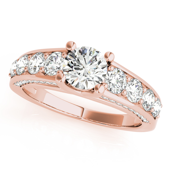 Trellis Journey Diamond Bridal Set in Rose Gold
