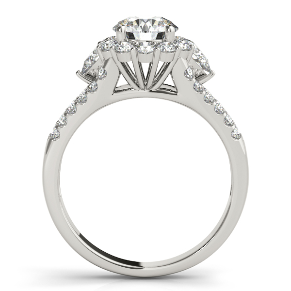 Round & Pear Diamond Split Band Halo Bridal Set