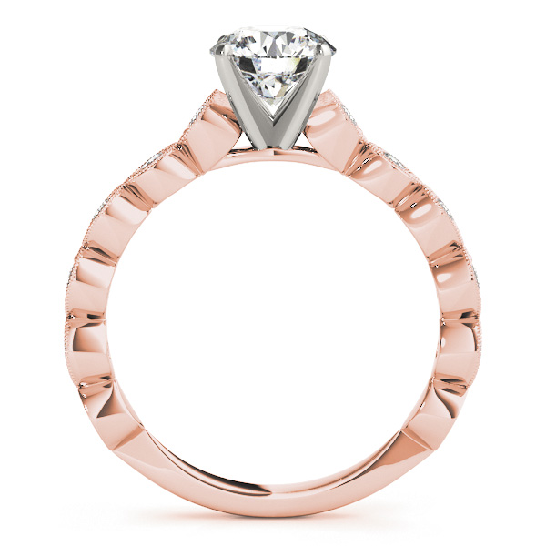 Infinity Cathedral Diamond Bridal Set in Rose Gold