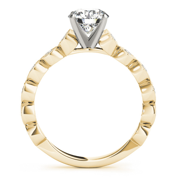 Infinity Cathedral Diamond Engagement Ring in Yellow Gold