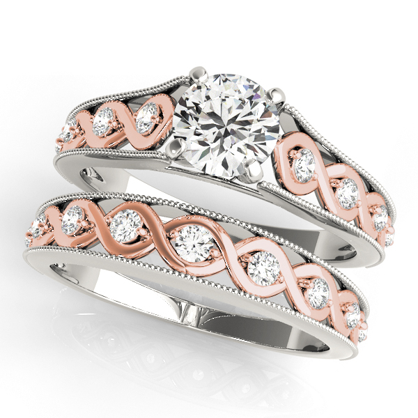 Two Tone Infinity Diamond Wedding Ring