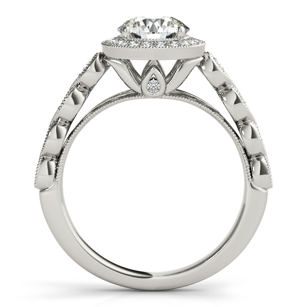 Journey Halo Diamond Infinity Engagement Ring and Matching Band