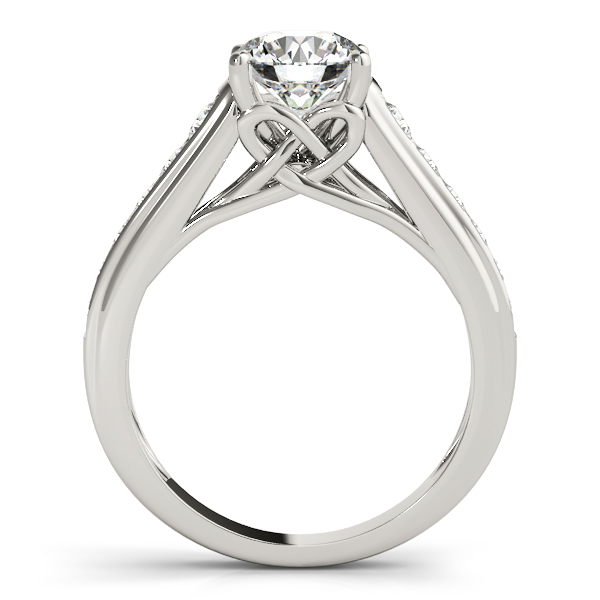 Graduated Cathedral Knot Diamond Engagement Ring