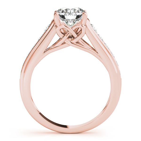 Graduated Cathedral Knot Diamond Bridal Set in Rose Gold