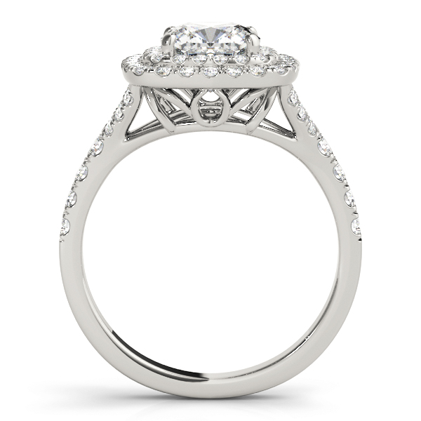 Cushion Double Diamond Halo Engagement Ring