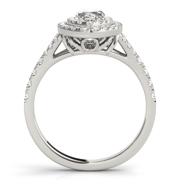 Marquise Double Diamond Halo Engagement Ring