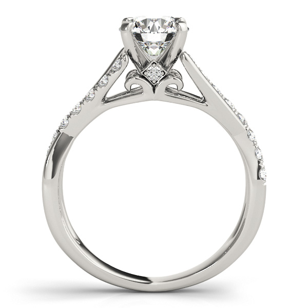 Intertwined Diamond Cathedral Engagement Ring