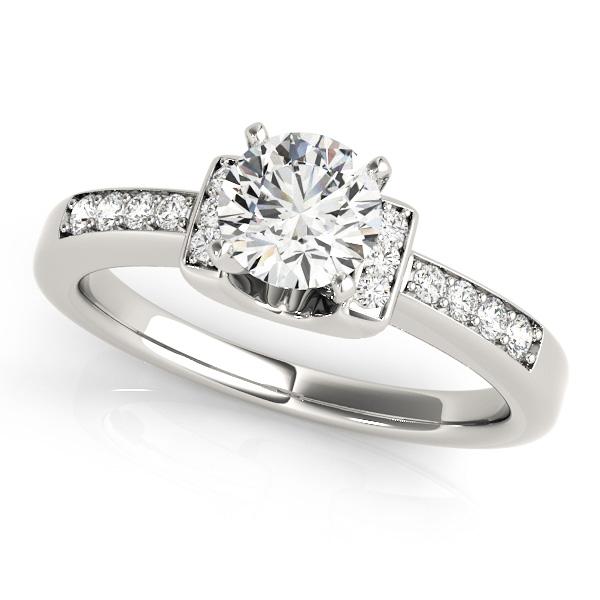 Pee Diamond Horseshoe Engagement Ring