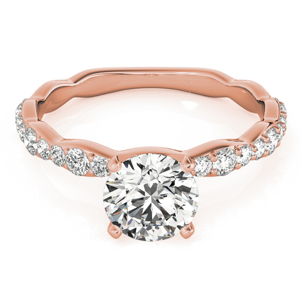 Petite Multi-Size Diamond Engagement Ring in Rose Gold