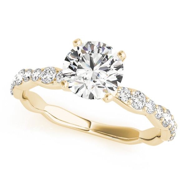 Petite Multi-Size Diamond Engagement Ring in Yellow Gold