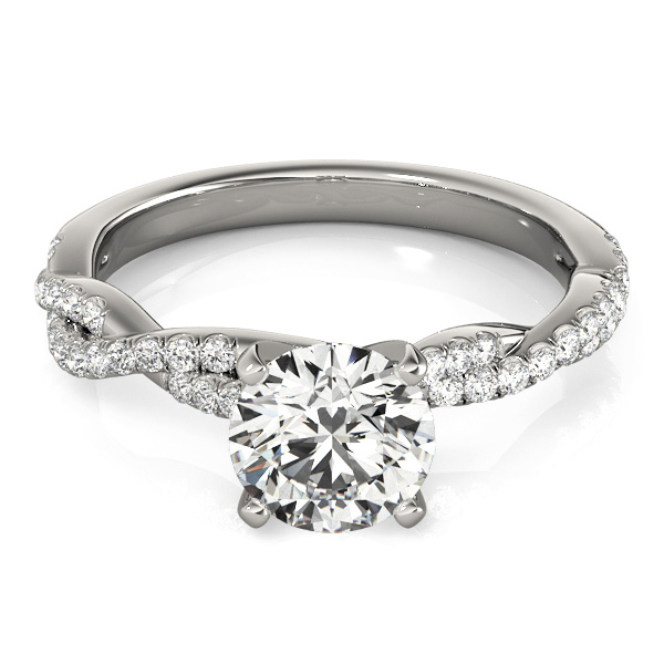 Petite Intertwined Diamond Engagment Ring