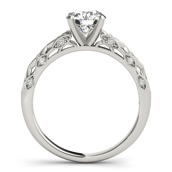 Vintage Swing Diamond Cathedral Engagement Ring