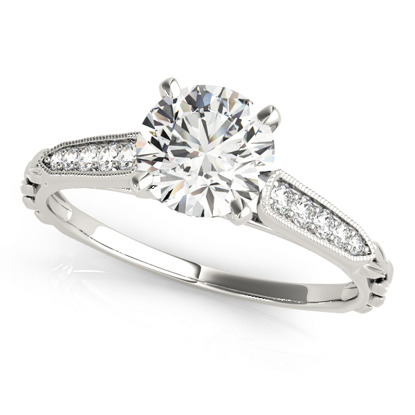 Cathedral Petite Diamond Engagement Ring
