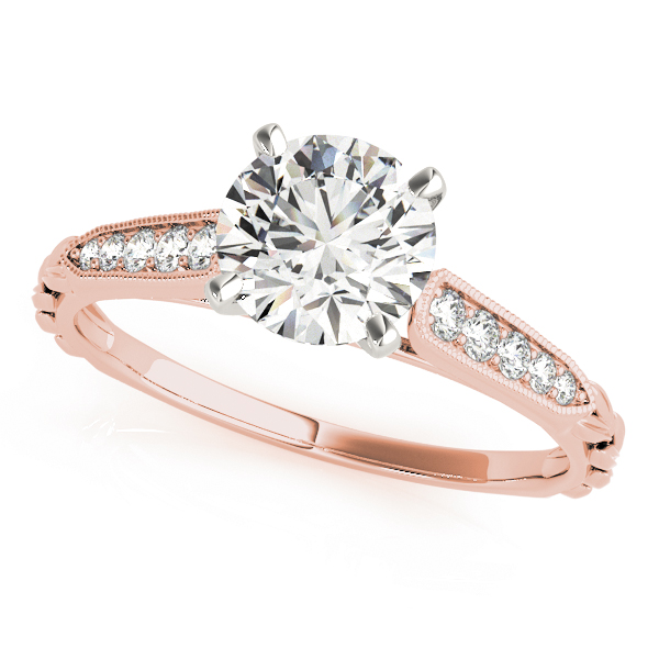 Cathedral Petite Diamond Bridal Set in Rose Gold