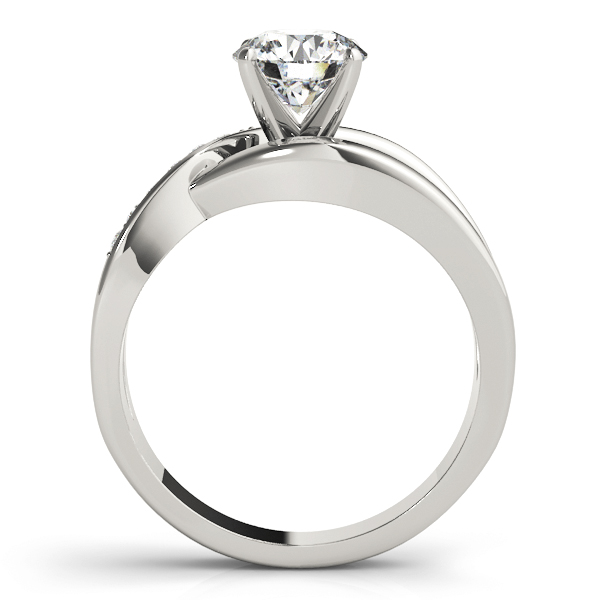 Wide Intertwined & Split Band Diamond Engagement Ring