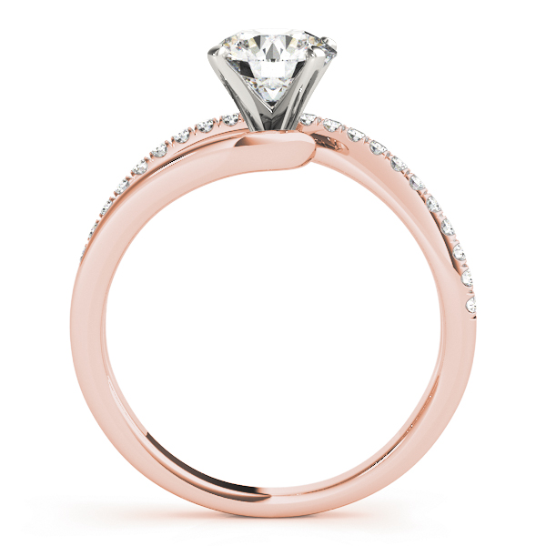 Petite Intertwined Diamond Engagement Ring in Rose Gold