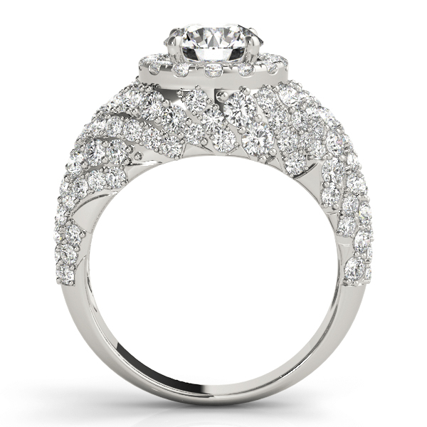 Large Halo Diamond Etoil Engagement Anniversary Ring