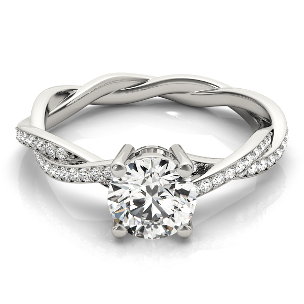 Petite Eternity Intertwined Diamond Engagement Ring