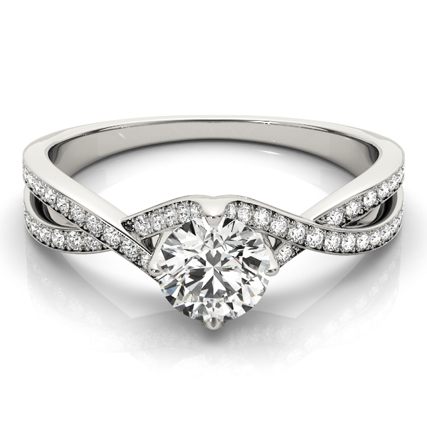 Intertwine Petite Diamond Engagement Ring