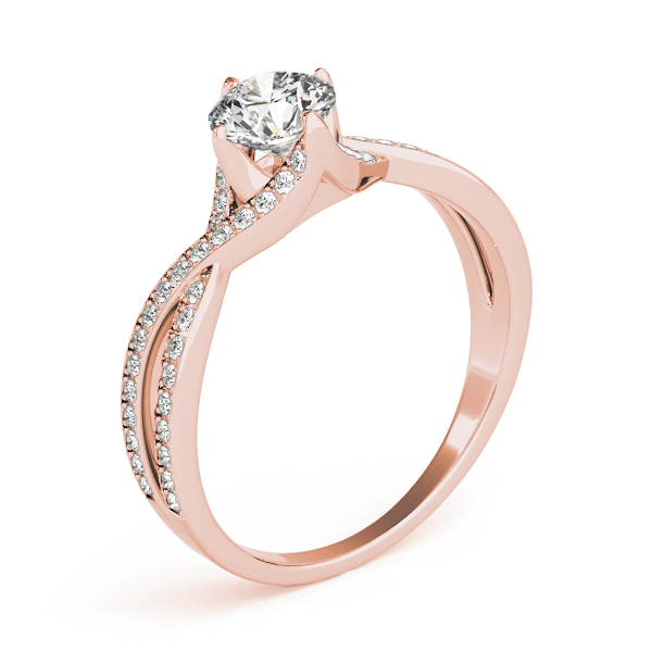 Intertwine Petite Diamond Engagement Ring in Rose Gold