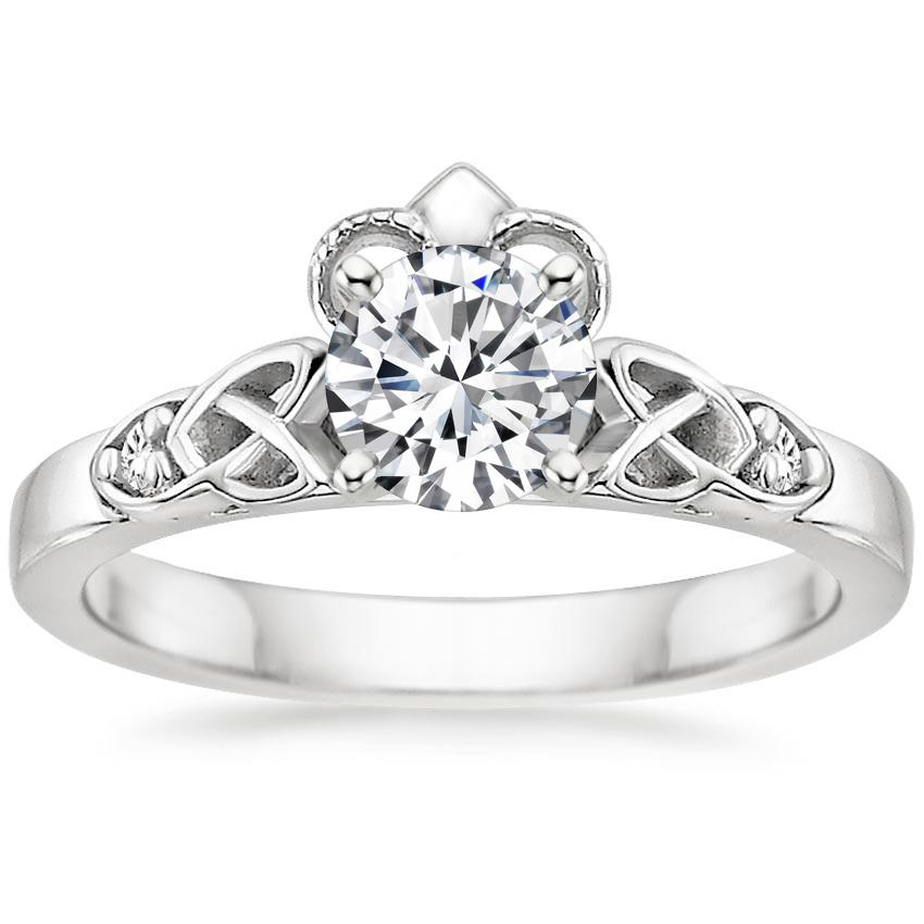 Diamond Celtic Claddagh Engagement Ring