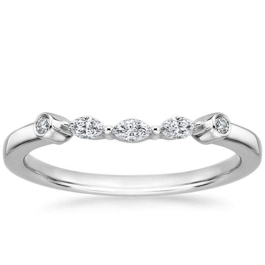 Floral Petals Diamond Petite Engagement Ring & Wedding Band