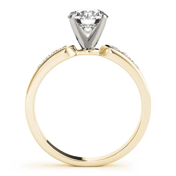 Petite Channel Set Diamond Bridal Set in Yellow Gold