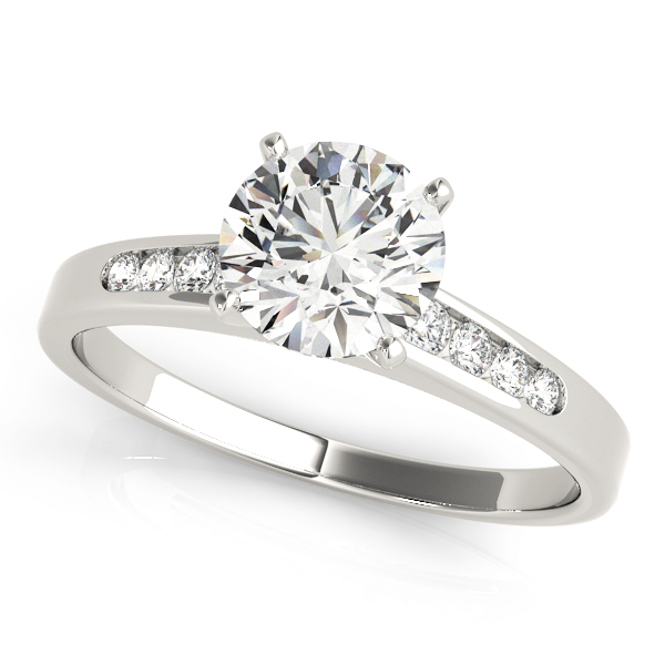 Petite Graduated Diamond Engagement Ring