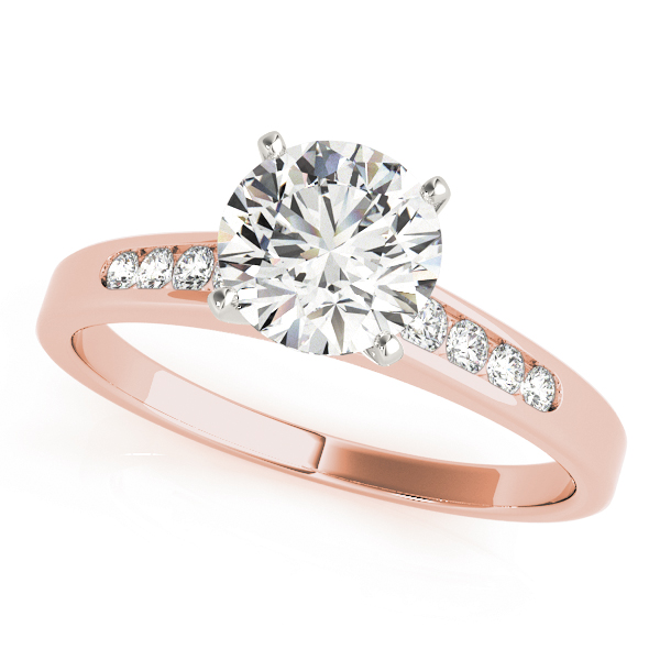 Petite Graduated Diamond Bridal Set in Rose Gold