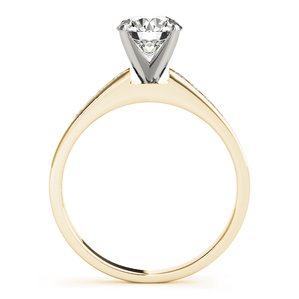 Petite Graduated Diamond Engagement Ring in Yellow Gold