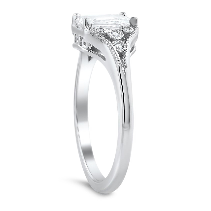 Emerald Cut Diamond Vintage Engagement Ring