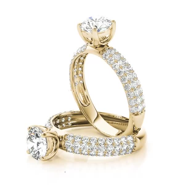 Etoil Diamond Engagement Ring Yellow Gold