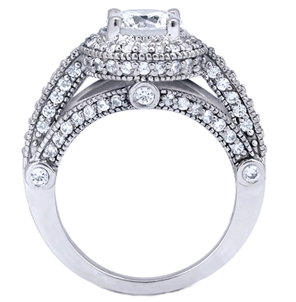 Legacy Style Diamond Engagement Ring 1.06 tcw. 14K White Gold