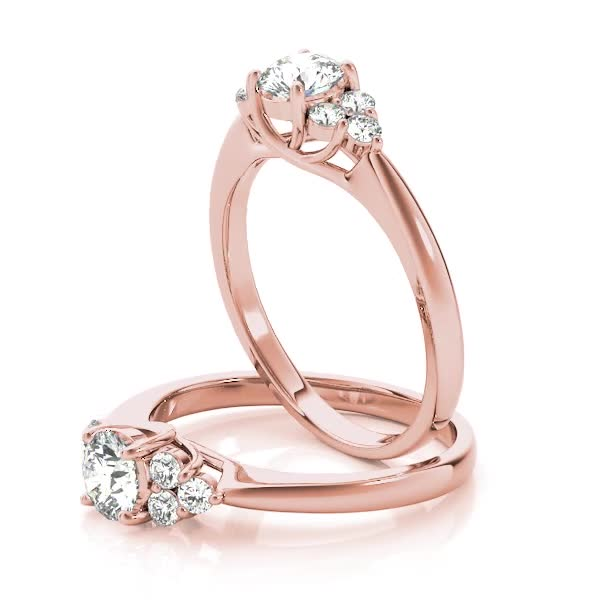 Petals engagement ring, Rose Gold