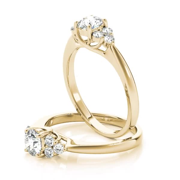 Petals engagement ring, Yellow Gold