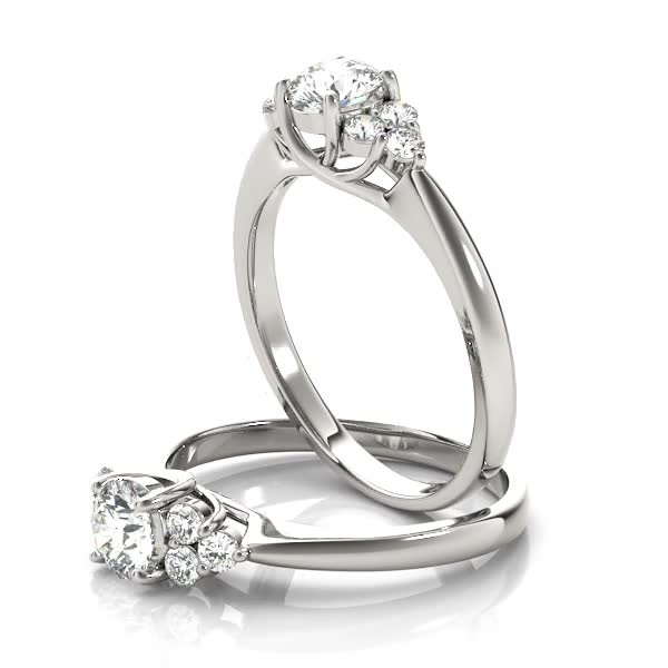 Petals engagement ring