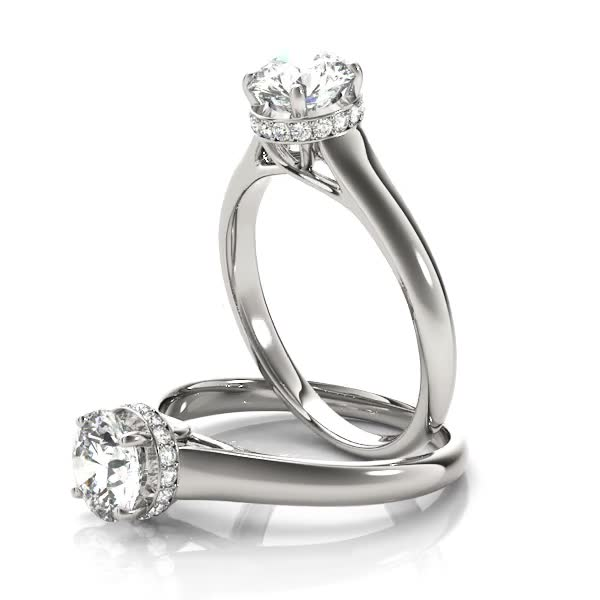 Solitaire Round Engagement Ring, diamond Gallery