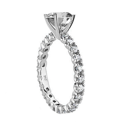 Eternity Diamond Engagement Ring Setting 0.78 tcw. In 14K White Gold