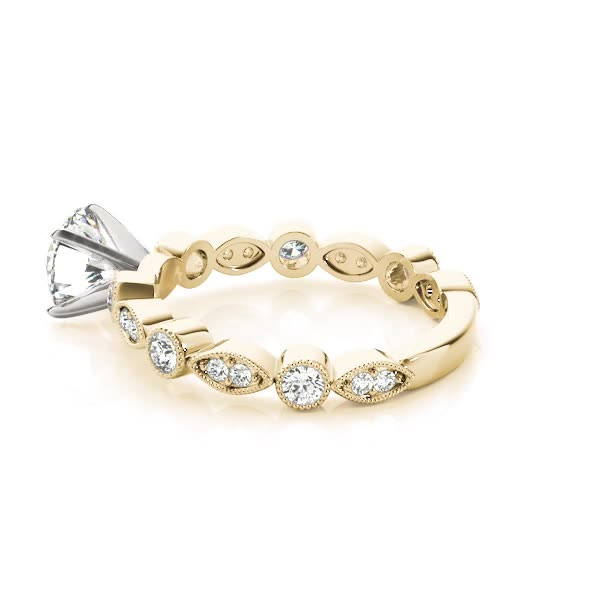 Petite Diamond Swing Engagement Ring Yellow Gold