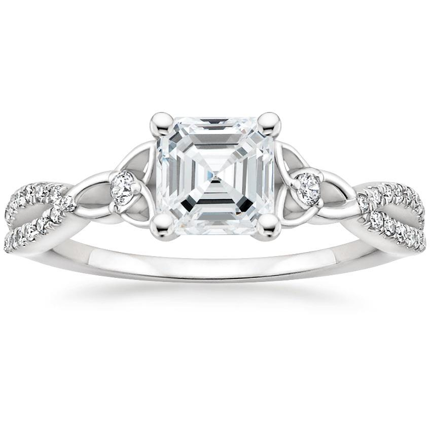 Intertwined Asscher Celtic Love Knot Engagement Ring