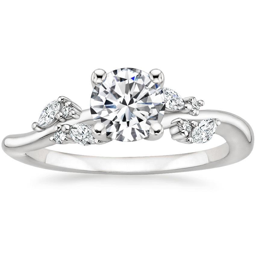 Floral Vine Diamond Engagement Ring