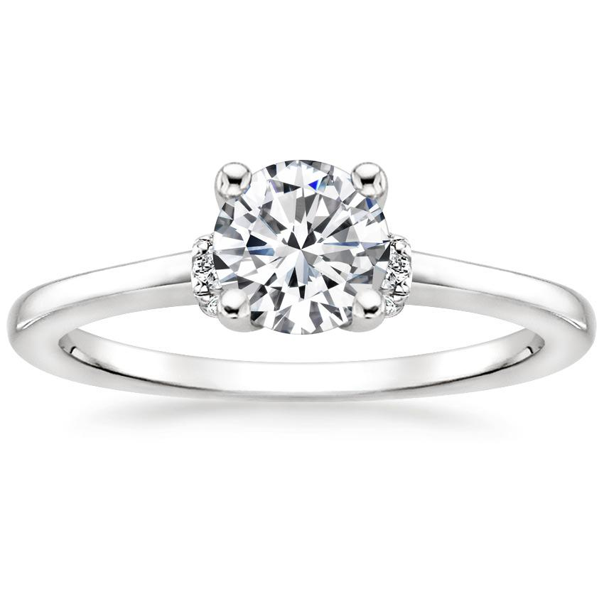 Solitaire Engagement Ring Diamond Shoulders
