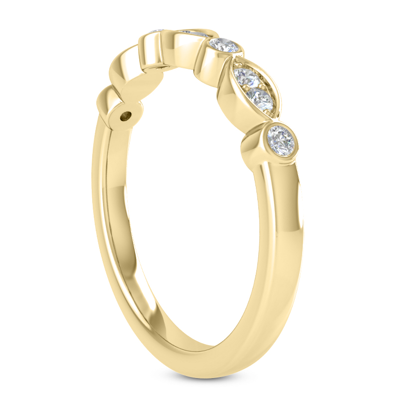 Petite Swing Wedding Band Yellow Gold